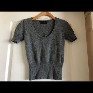 Zara cropped angora sweater